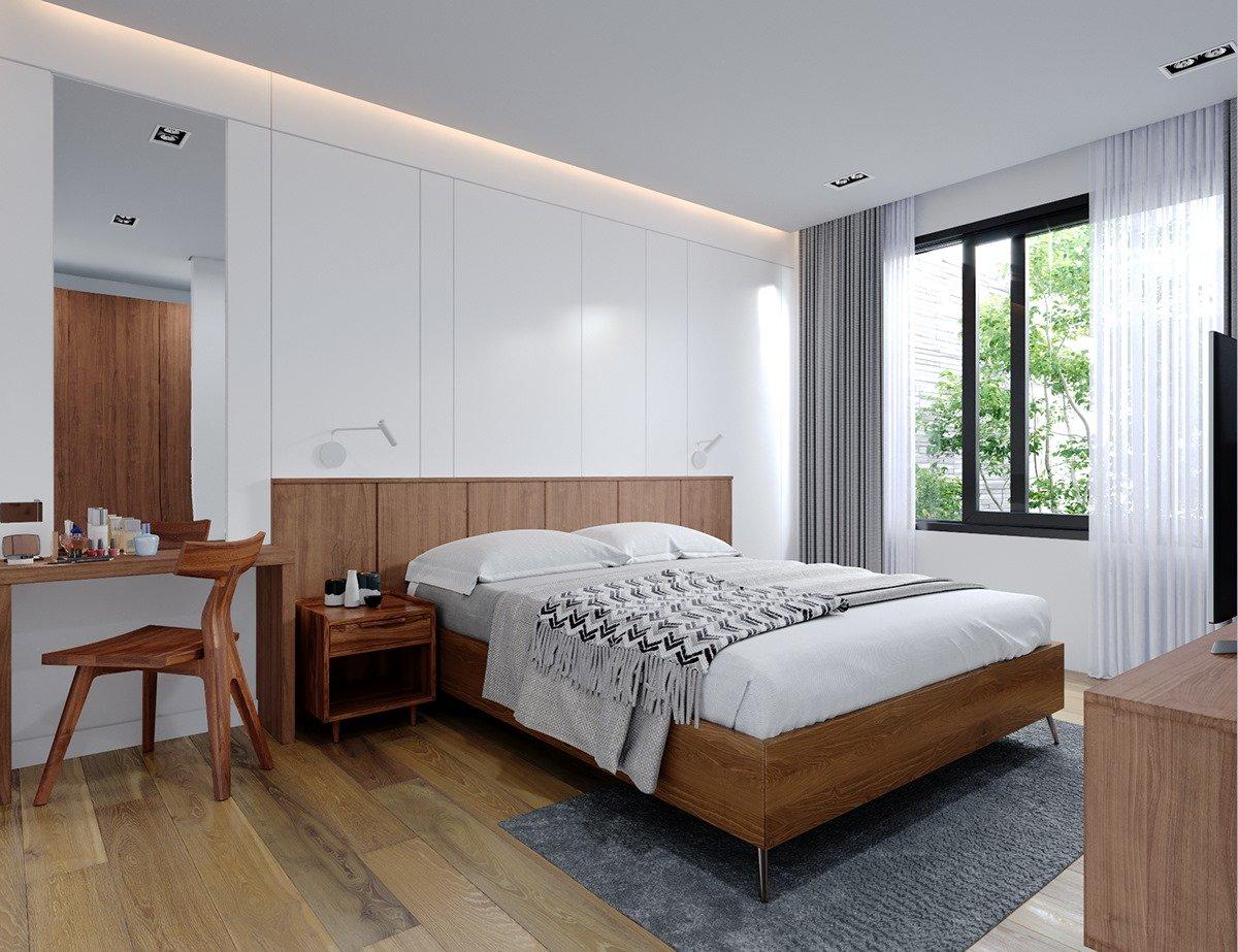 giường ngủ hiện đại phòng master