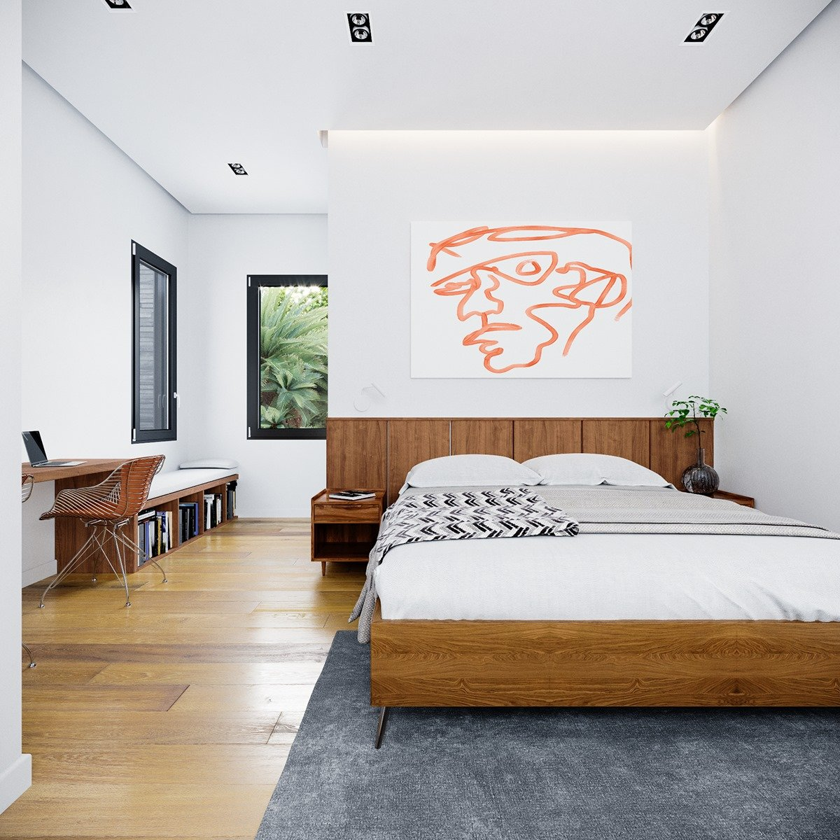 giường ngủ hiện đại phòng ngủ con