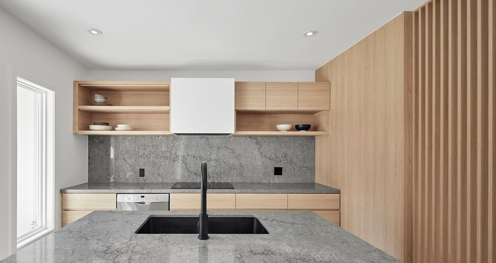 thiết kế tủ bếp melamine