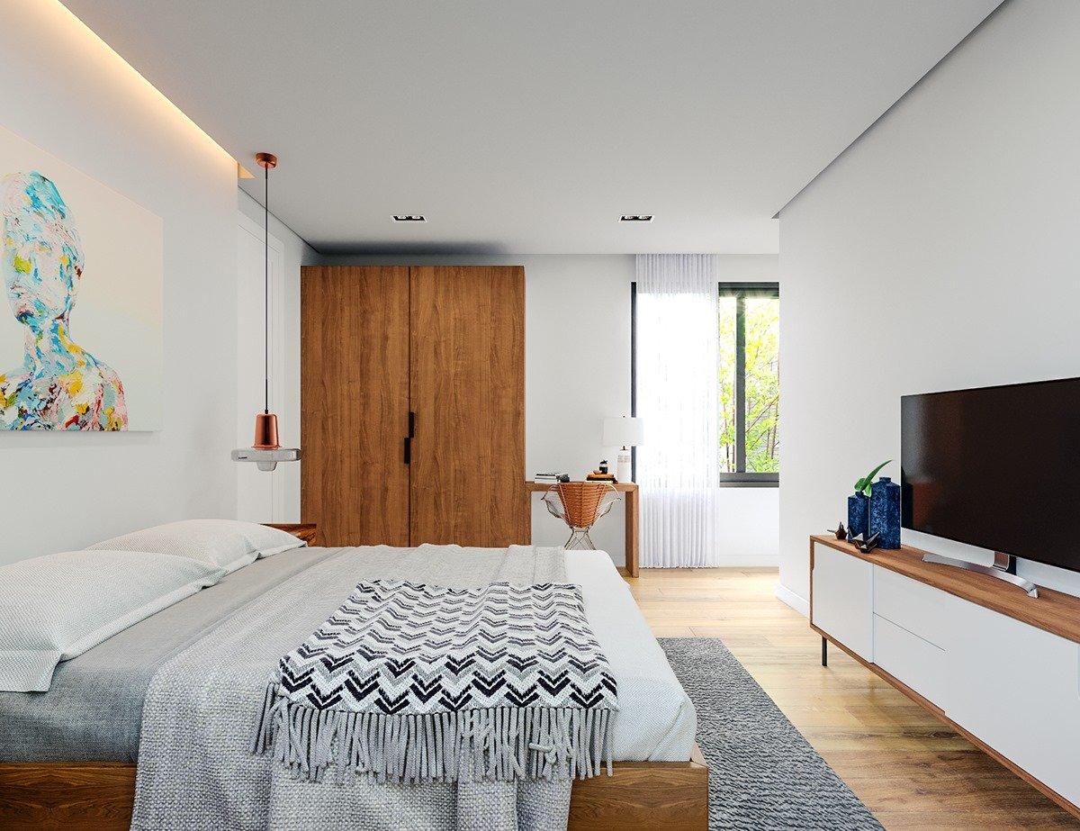 nội thất hiện đại phòng ngủ ba mẹ