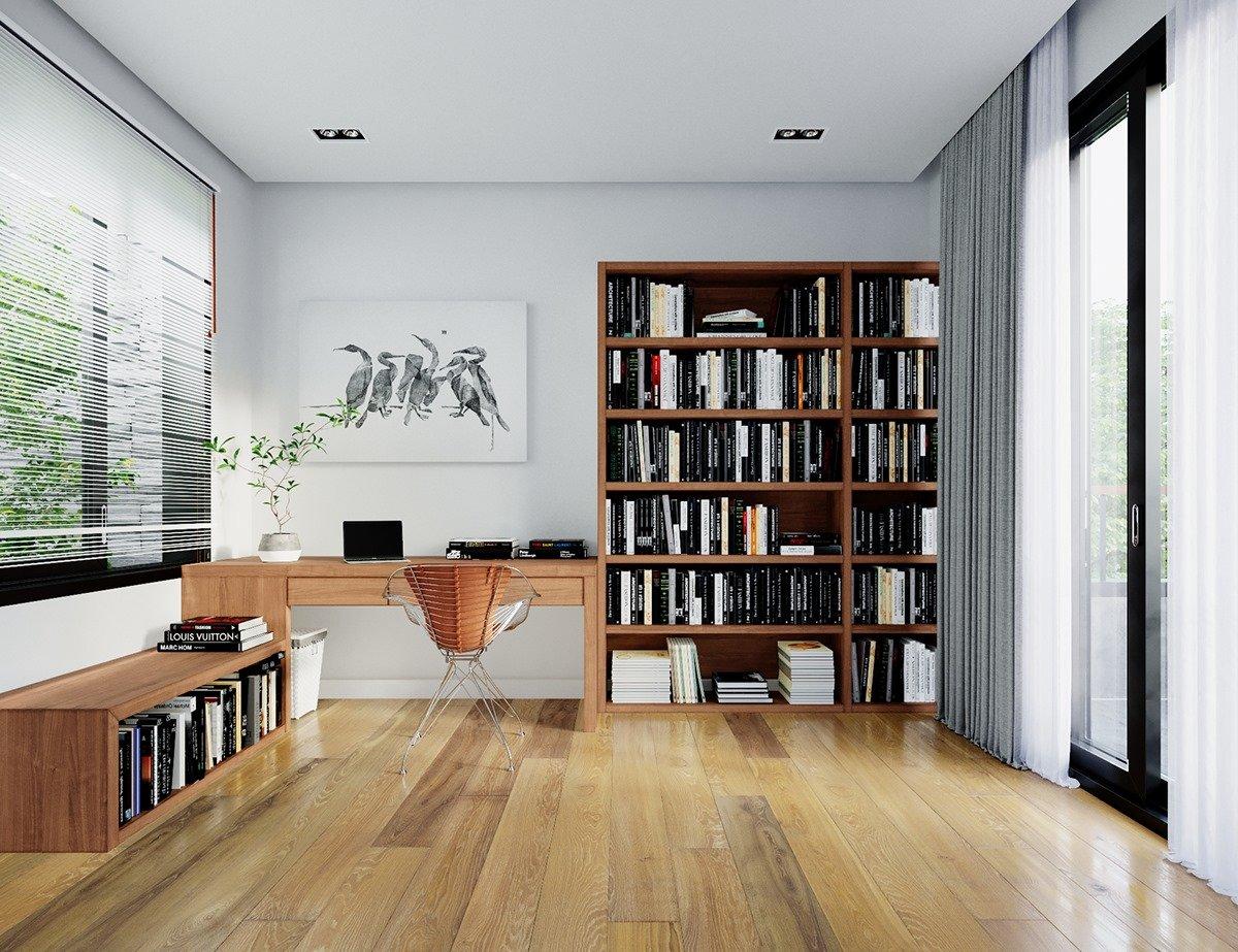 thiết kế phòng làm việc hiện đại